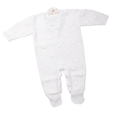 Macacão bebê bolão - Natural