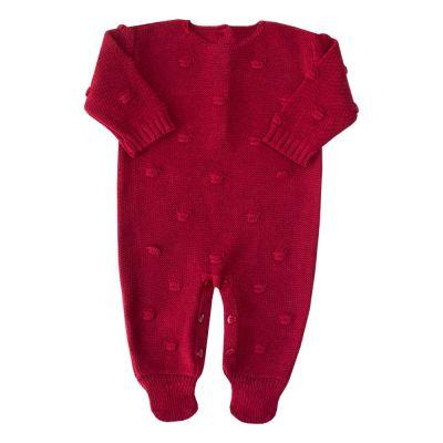 Macacão bebê bolão - Vermelho