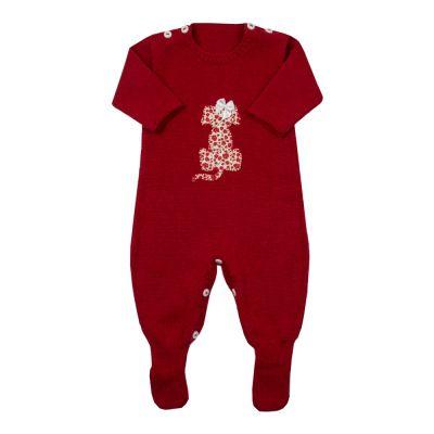 Macacão bebê cachorrinho - Vermelho