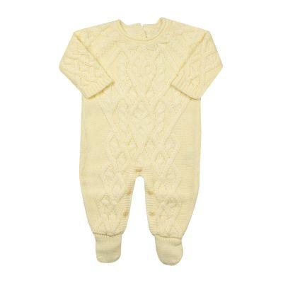 Macacão bebê cedrilho - Amarelo
