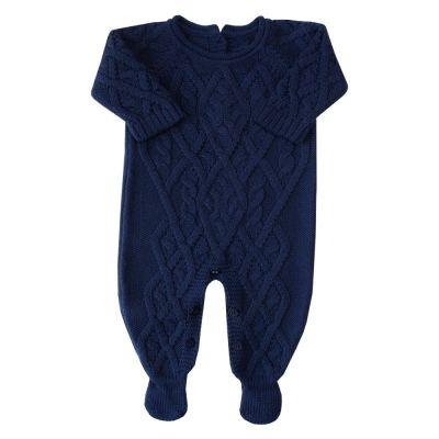 Macacão bebê cedrilho - Azul marinho
