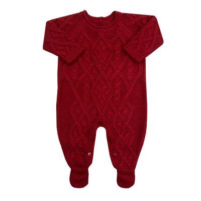 Macacão bebê cedrilho - Vermelho