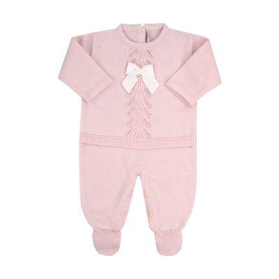 Macacão bebê com cristais swarovski - Rosa bebê