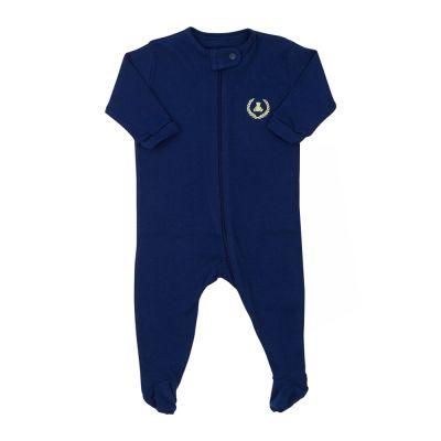 Macacão bebê com zíper - Azul naval
