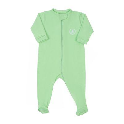 Macacão bebê com zíper - Verde claro