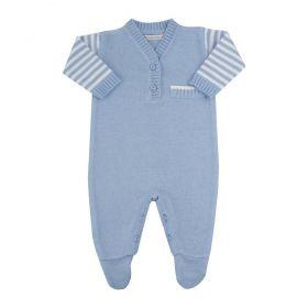 Saída de maternidade masculina macacão - Azul bebê
