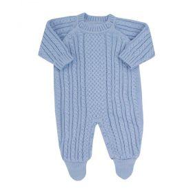 Saída de maternidade masculina macacão onix - Azul bebê