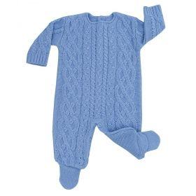 Macacão bebê eucalipto - Azul bebê
