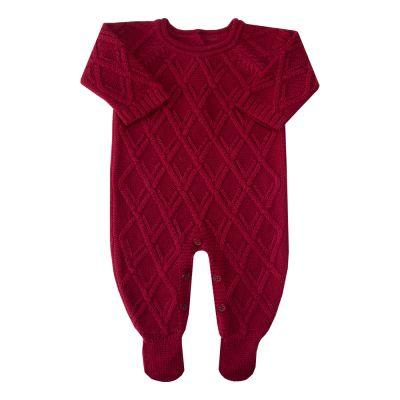 Macacão bebê losango - Vermelho red night