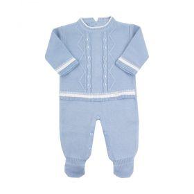 Macacão bebê masculino - Azul bebê