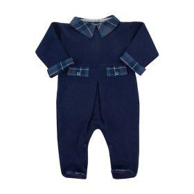 Macacão bebê masculino - Azul marinho