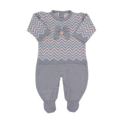 Saída de maternidade feminina macacão - Cinza