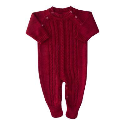 Macacão bebê tranças - Vermelho