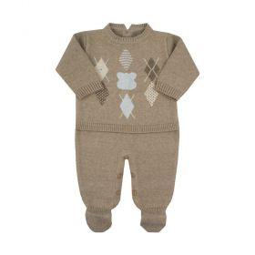 Macacão bebê urso escocês - Rolex