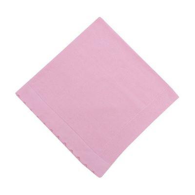 Manta bebê em tricot - Rosa sensação
