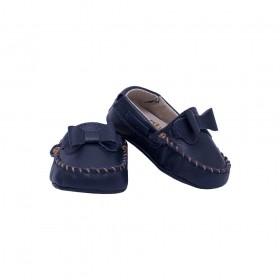 Mocassim bebê feminino - Azul marinho