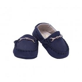 Mocassim bebê nobuck - Azul marinho