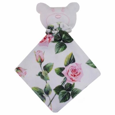 Naninha bebê floral - Branco e verde