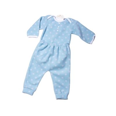 Pijama bebê soft estrelas - Azul bebê