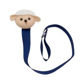 Prendedor de chupeta  ovelhinha - Azul marinho