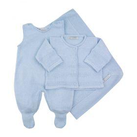 Saída de matenidade masculina 3 peças - Azul bebê