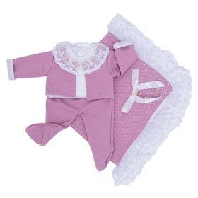 Saída de maternidade 4 peças feminina  - Rose