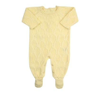Macacão bebê aran - Amarelo bebê