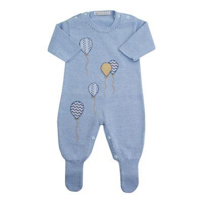 Macacão bebê balão - Azul bebê