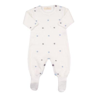 Macacão bebê poás - Branco