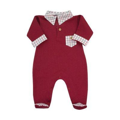 Saída de maternidade macacão - Vermelho