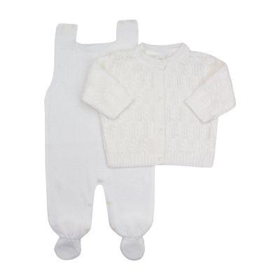 Conjunto macacão e casaco corda - Branco