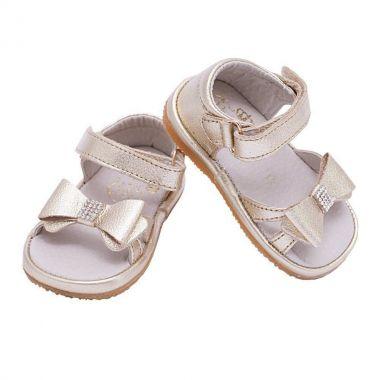 Sandália bebê feminina - Dourada