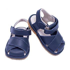 Sandália bebê masculina - Azul marinho