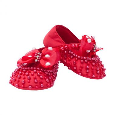 Sapatilha bebê bordada - Vermelho