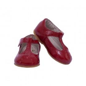 Sapatilha bebê classic verniz - Vermelho
