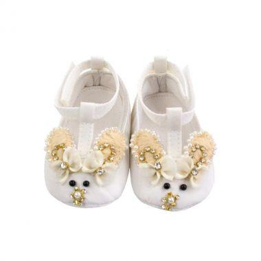 Sapatilha bebê coelhinho - Branco