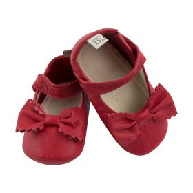 Sapatilha bebê em couro - Vermelho
