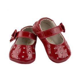 Sapatilha bebê verniz - Vermelho