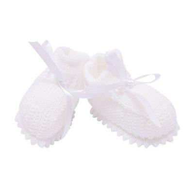 Sapatinho bebê em tricot - Branco