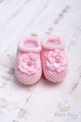 Sapatinho bebê flor - Sensação