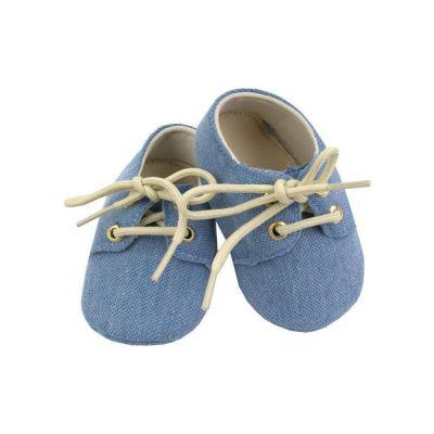 Sapatinho bebê mocassim - Azul bebê