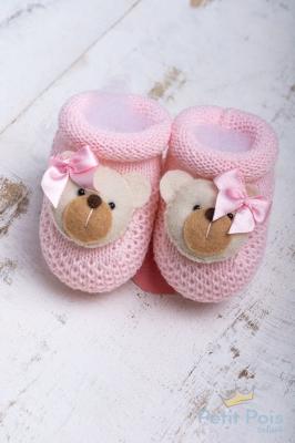 Sapatinho bebê ursinha - Sensação