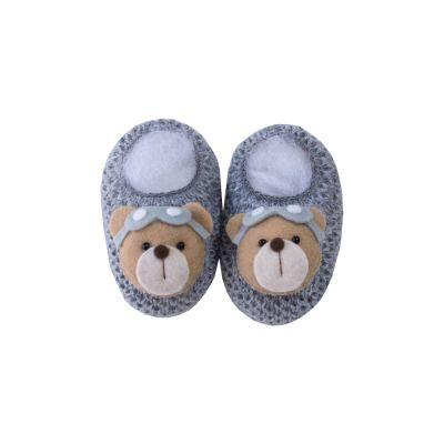 Sapatinho bebê urso avidor - Cinza