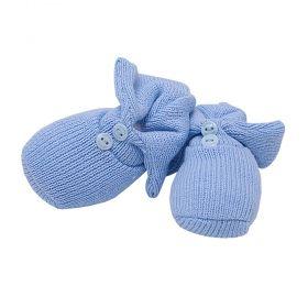 Sapatinho bebê  em tricot - Azul