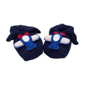 Sapatinho em tricot - Azul marinho
