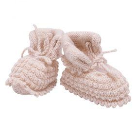Sapatinho em tricot - Bege