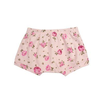 Short bebê floral - Rosa bebê