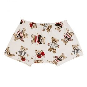 Short bebê teddy - Off white