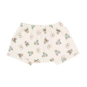 Short bebê ursinho - Marfim