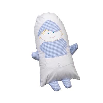 Soninho bebê xadrez - Azul bebê
